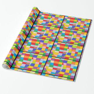 Papel De Presente Círculo colorido no retângulo colorido