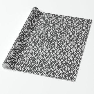 Papel De Presente Círculos preto e branco