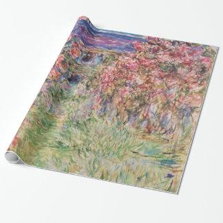 Papel De Presente Claude Monet a casa entre os rosas GalleryHD