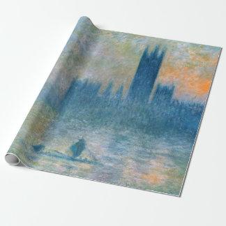 Papel De Presente Claude Monet as casas do parlamento