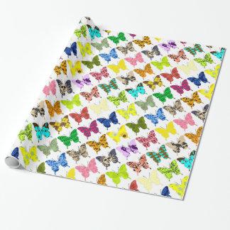 Papel De Presente Colagem da borboleta