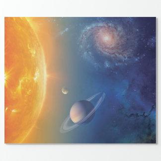 Papel De Presente Colagem do espaço do sistema solar da NASA
