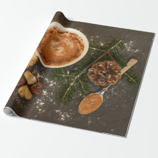 Papel De Presente Colher de café dos chocolates dos biscoitos do