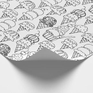 Papel De Presente Colora seus próprios cones do sorvete