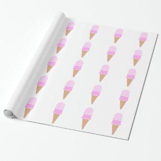 Papel De Presente Cone dobro do sorvete da colher - rosa