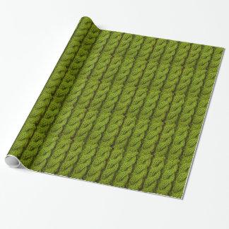 Papel De Presente Confecção de malhas verde do cabo