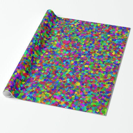 Papel De Presente Confetes - coloridos