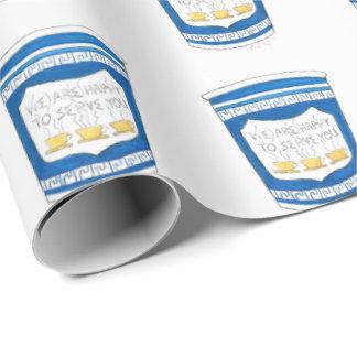 Papel De Presente Copo de café grego de NYC feliz servir-lo papel de
