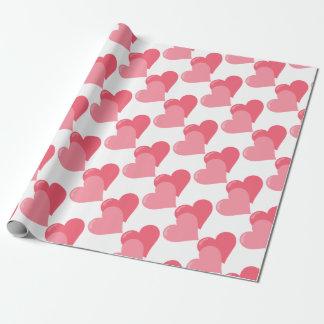Papel De Presente Corações cor-de-rosa gêmeos