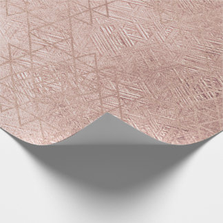 Papel De Presente Coram as linhas de vidro da geometria do hexágono