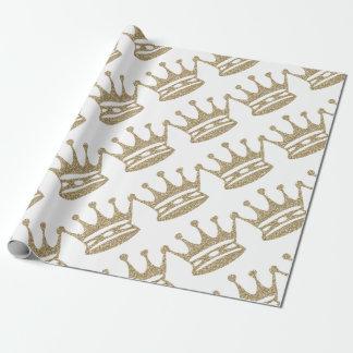 Papel De Presente Coroa do brilho do ouro