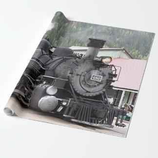 Papel De Presente Cozinhe o motor do trem, Colorado, EUA, papel de