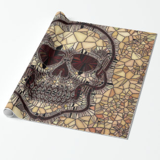 Papel De Presente Crânio de vidro do mosaico, bege