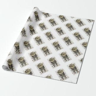 Papel De Presente crânio do vaqueiro do macaco com armas gêmeas