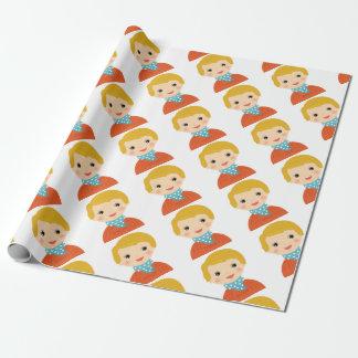 Papel De Presente Criança na edição da camisola/Xmas