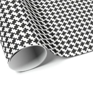 Papel De Presente Criar seu próprio teste padrão preto dos quadrados