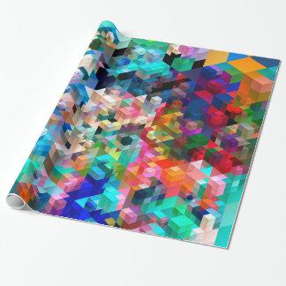 Papel De Presente Cubos coloridos