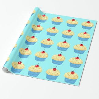 Papel De Presente Cupcakes da baunilha