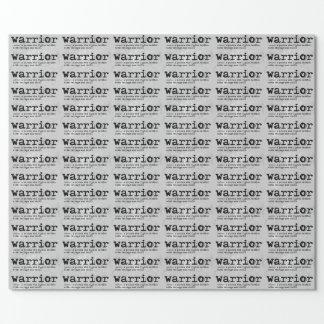 Papel De Presente Definição do guerreiro no mármore de prata do