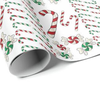 Papel De Presente Deleites doces dos doces do Natal