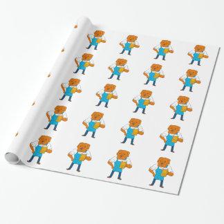 Papel De Presente Desenhos animados da mascote da caneca do