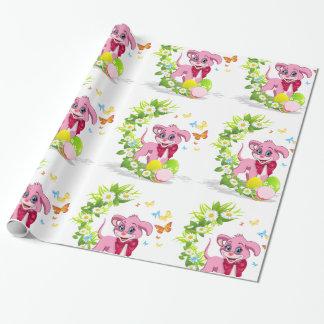 Papel De Presente Desenhos animados do filhote de cachorro do nariz