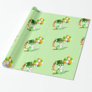 Papel De Presente Desenhos animados verdes do coelho de Patrick de