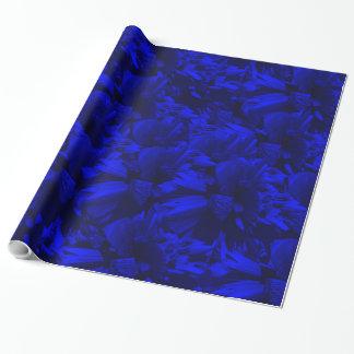 Papel De Presente Design abstrato azul A202 e preto rico