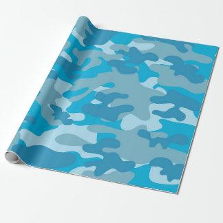Papel De Presente Design azul e cinzento de Camo
