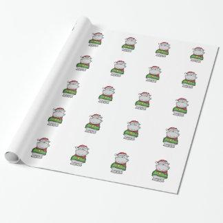 Papel De Presente Design bonito do hipopótamo do Natal