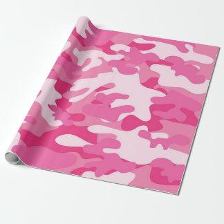 Papel De Presente Design cor-de-rosa e branco de Camo