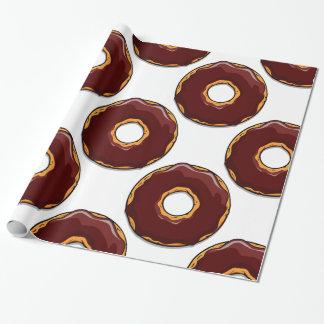 Papel De Presente Design da rosquinha do chocolate dos desenhos