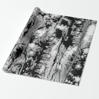 Papel De Presente Design da textura da água preto, branco, papel