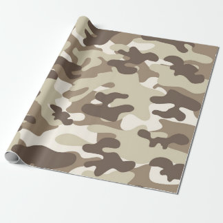 Papel De Presente Design de Brown Camo