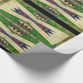 Papel De Presente design de Cheyenne Parfleche dos 1880's