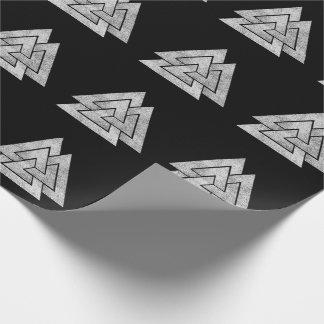 Papel De Presente Design de Valknut Viking