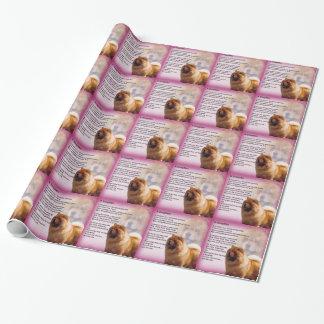 Papel De Presente Design do cão da comida de comida - poema da filha