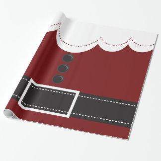 Papel De Presente Design do feriado do Natal do terno de Papai Noel