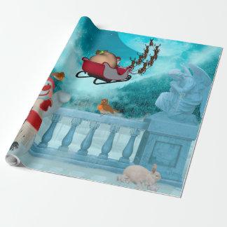 Papel De Presente Design do Natal, Papai Noel