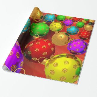 Papel De Presente Design festivo dos ornamento da árvore de Natal do