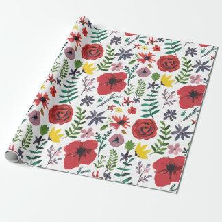 Papel De Presente Design floral do Watercolour