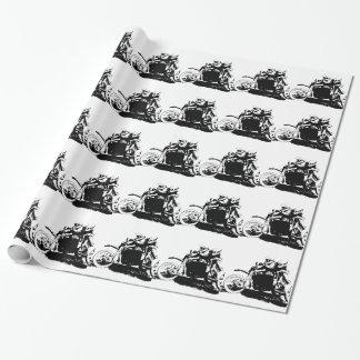 Papel De Presente Design simples de Sidecarcross