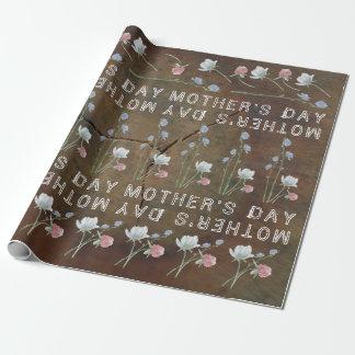Papel De Presente Dia das mães da madeira de carvalho do Wildflower