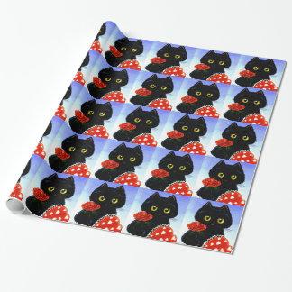 Papel De Presente Dia dos namorados Creationarts do rato do gato