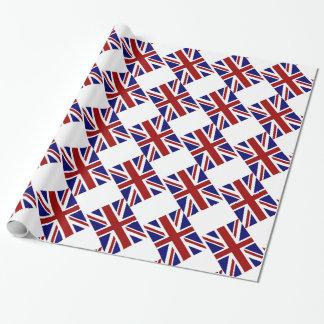 Papel De Presente Diagonal BRITÂNICA da bandeira de Union Jack