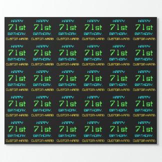 Papel De Presente Divertimento Digital que computa o 71st