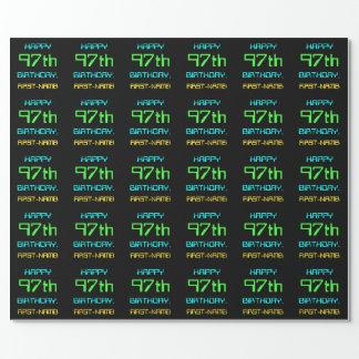Papel De Presente Divertimento Digital que computa o 97th