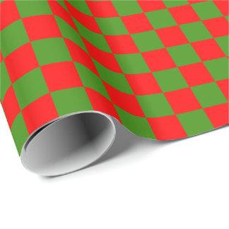 Papel De Presente DIY alguns cor/verde Checkered