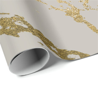 Papel De Presente Do mármore cremoso Pastel do ouro do marfim