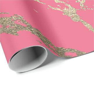 Papel De Presente Do mármore mais foxier cor-de-rosa do ouro dos
